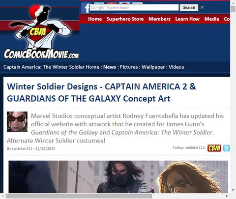 ロドニー・フェンテベラによる映画「キャプテン・アメリカ:ウィンター・ソルジャー」と「ガーディアンズ・オブ・ザ・ギャラクシー」のコンセプトアートが公開!