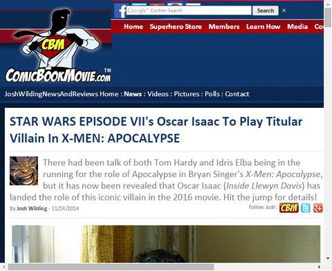 オスカー・アイザックはX-MEN:アポカリプスでヴィランを演じる!