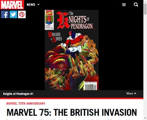 マーベル75:英国の侵入!