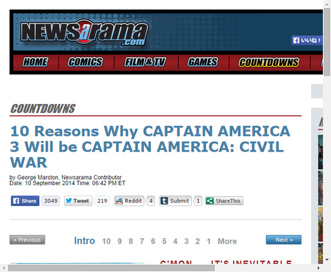 キャプテン・アメリカ3がキャプテン・アメリカ:シビル・ウォーとなる10の理由!後編