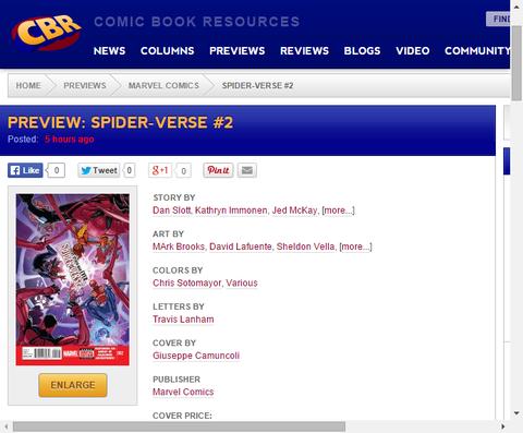 様々なスパイディの活躍!スパイダーバース #2のプレビュー画像が更新!