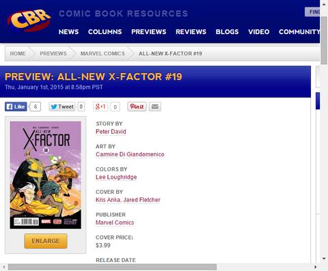 それはまっすぐな任務のはずだった!オールニュー・X-FACTOR #19のプレビュー画像が更新!