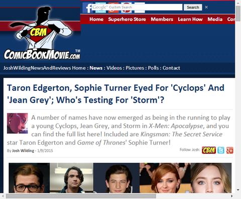映画「X-MEN:アポカリプス」で若きサイク、ジーン、ストームの新たな候補者リスト!