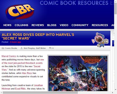 アレックス・ロスはマーベルの「シークレット・ウォーズ」の中に深く飛びこむ!