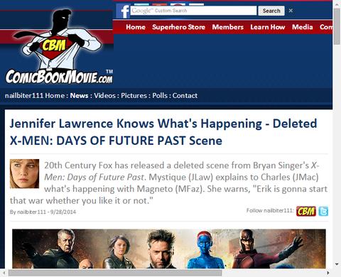 映画「X-MEN:デイズ・オブ・フューチャー・パスト」の削除されたシーンが公開!