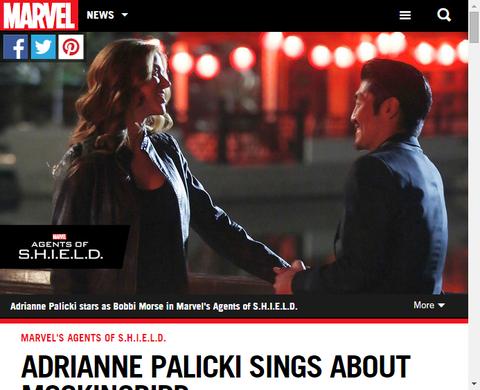 ドラマ「エージェント・オブ・シールド」でモッキンバードを演じるエイドリアン・パリッキのMarvel.comによるインタビュー!