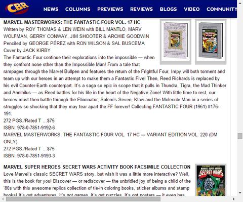 マーベル・マスターウォークス:ザ・ファンタスティック・フォー Vol.17 HCのプレビュー!