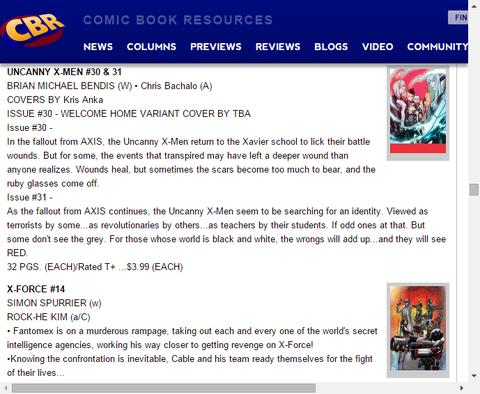 白でも黒でもない赤を見る!アンキャニー・X-MEN #31のプレビュー!