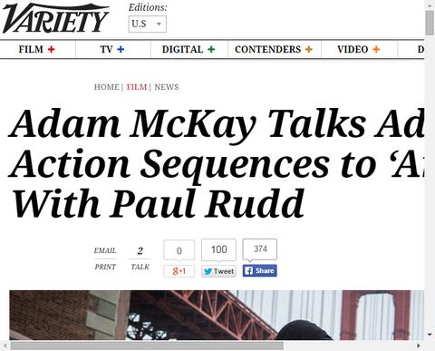 映画「アントマン」のアダム・マッケイがポール・ラッドとのアクションシークエンスについて話す!