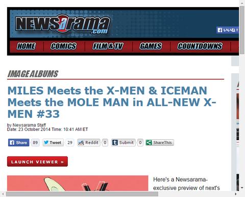 オールニュー・X-MEN #33のプレビュー!マイルズはX-MENに会い、アイスマンはモールマンに会う!