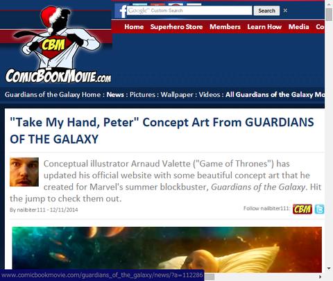 映画「ガーディアンズ・オブ・ザ・ギャラクシー」の神秘的な「テイク・マイ・ハンド、ピーター」シーンのコンセプトアートが公開!