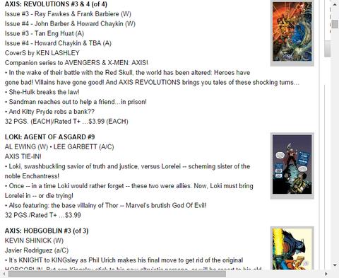 アクシス:レボリューションズ #3 & #4のプレビュー!