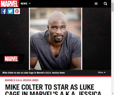 マイク・コルターがドラマ「ジェシカ・ジョーンズ」でルーク・ケイジを演じると公式発表!