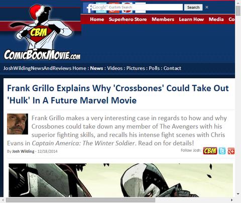 フランク・グリヨが「クロスボーンズ」がなぜ将来のマーベル映画に「ハルク」を連れ出すことができるか話す!