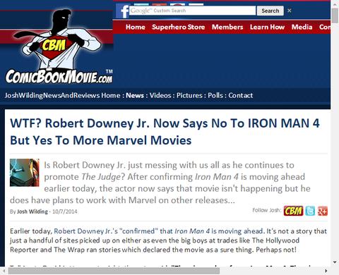 【矛盾】ロバート・ダウニー・Jr.はアイアンマン4はNOと話すが、多くのマーベル映画にはYES!