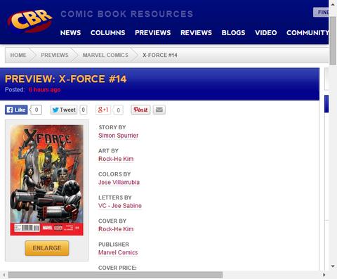 狂気のファントメックスは暴れ回る!X-FORCE #14のプレビュー画像が更新!