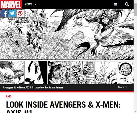アベンジャーズ&X-MEN #1をのぞこう!