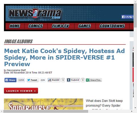 スパイダーバース #1のプレビュー画像が公開!