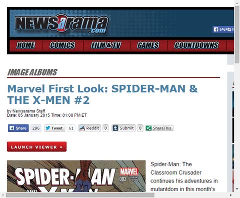 スパイダーマン・アンド・ジ・X-MEN #2のプレビュー画像が公開!