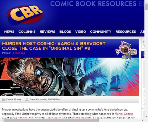 ※ネタバレ注意!アーロンとブレヴォートの「オリジナル・シン #8」についてのインタビュー!