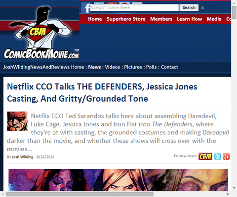 ネットフリックスのCCOがディフェンダーズとジェシカ・ジョーンズを語る!