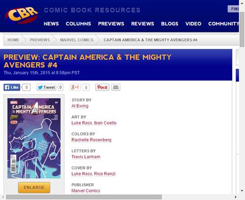 アクシスの余波は何をもたらすのか!?キャプテン・アメリカ & ザ・マイティ・アベンジャーズ #4のプレビュー画像が更新!