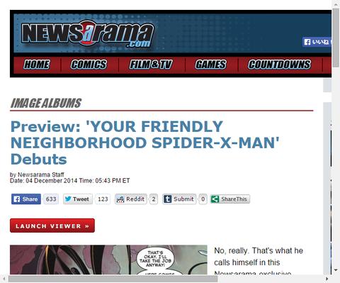 親愛なる隣人がジーン・グレイ学園に!スパイダーマン・アンド・ジ・X-MEN #1のプレビュー画像が更新!
