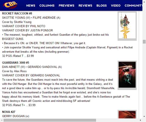 最もすごくてタフな男!ロケット・ラクーン #8のプレビュー!
