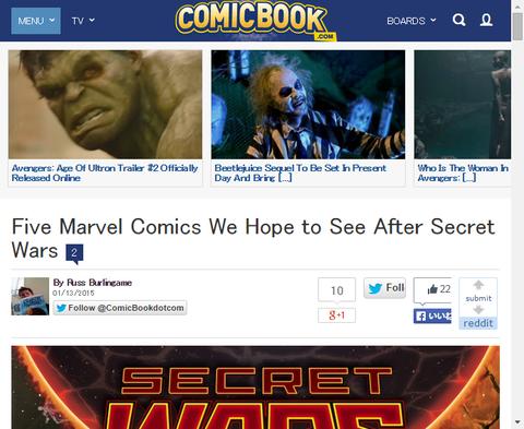 我々がマーベル・コミックスの「シークレット・ウォーズ」後に見たい5つのコミック!