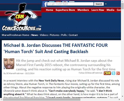 マイケル・B・ジョーダンは「ファンタスティック・フォー」のヒューマントーチのスーツとキャスティングについて話す!