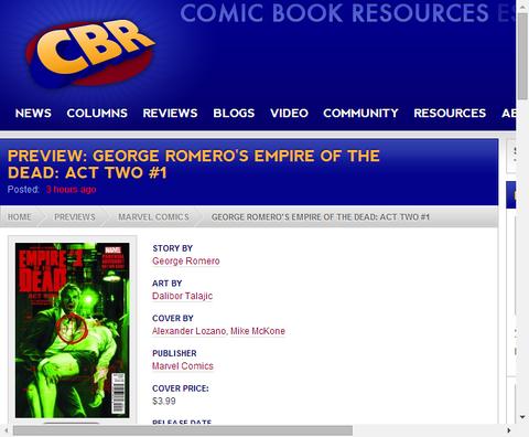 ジョージ・ロメロズ・エンパイア・オブ・ザ・デッド:アクト・ツー #1のプレビュー!