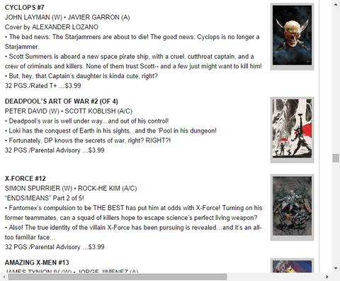 X-FORCE #12のプレビュー!