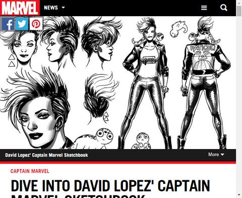 キャプテン・マーベルを手掛けるデイビッド・ロペスのスケッチブックとインタビュー!