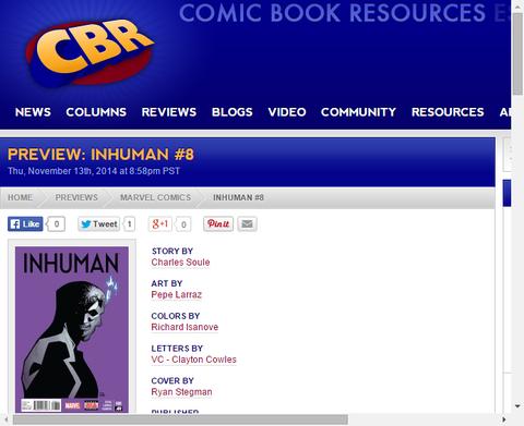 ボルタゴン兄弟の行方は!?インヒューマン #8のプレビュー画像!