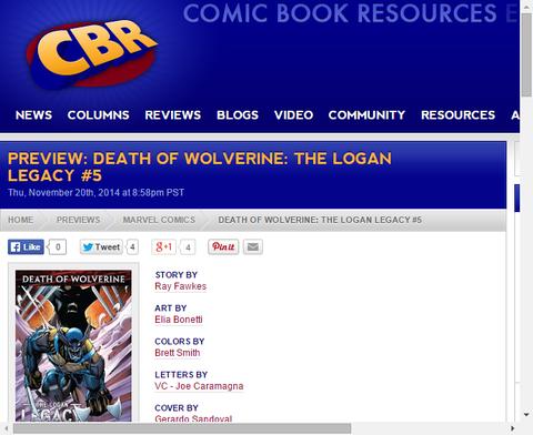 ウルヴァリン死後ダケンは何を思う!?デス・オブ・ウルヴァリン:ザ・ローガン・レガシー #5プレビューの画像が更新!