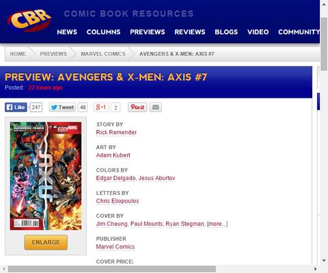 いよいよ最終決戦へ!アベンジャーズ&X-MEN:アクシス #7のプレビュー!