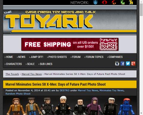 ダイアモンド・セレクトのマーベルミニメイツシリーズより「X-MEN:デイズ・オブ・フューチャー・パスト」の画像!