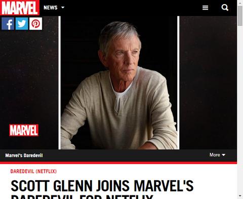 スコット・グレンはネットフリックスでの「デアデビル」に加わる!