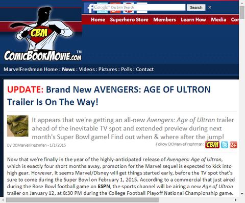 映画「アベンジャーズ:エイジ・オブ・ウルトロン」の新たなトレイラーのフッテージ映像が公開!日本時間13日午前10時30分公開!