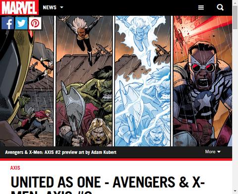 一体となり連合する - アベンジャーズ&X-MEN:アクシス #2!