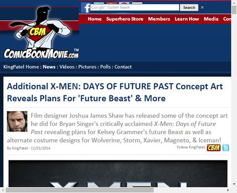 映画「X-MEN:デイズ・オブ・フューチャー・パスト」の未来でのコスチュームのコンセプトアートが公開!ビーストのコスチュームも!