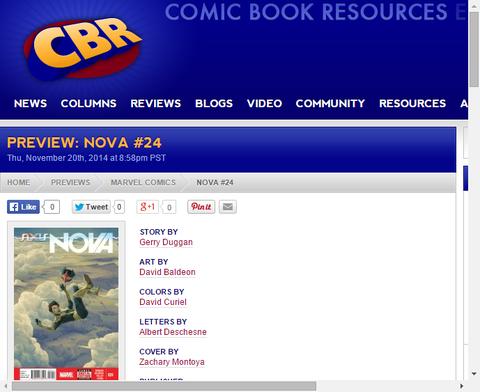 重症のノヴァは狂気のハルクに勝てるのか!?ノヴァ #24のプレビュー画像が更新!