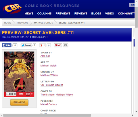 ホークアイとコールソンの対立!シークレット・アベンジャーズ #11のプレビュー画像が更新!