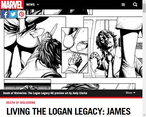 「デス・オブ・ウルヴァリン:ザ・ローガン・レガシー #6」を務めるライターのジェームズ・タイニオン4世のインタビュー!
