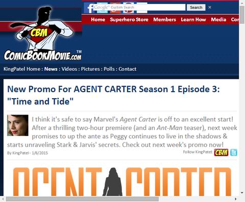 ドラマ「エージェント・カーター」 エピソード3の「タイム & タイド」のプロモ映像が公開!