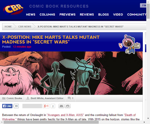 X-ポジション:「シークレット・ウォーズ」のマイク・マーツが話すミュータントの狂気!