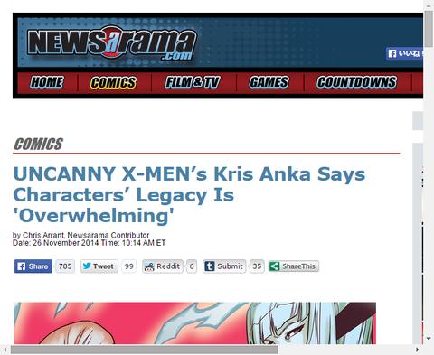クリス・アンカによるアンキャニー・X-MENについてのインタビュー!