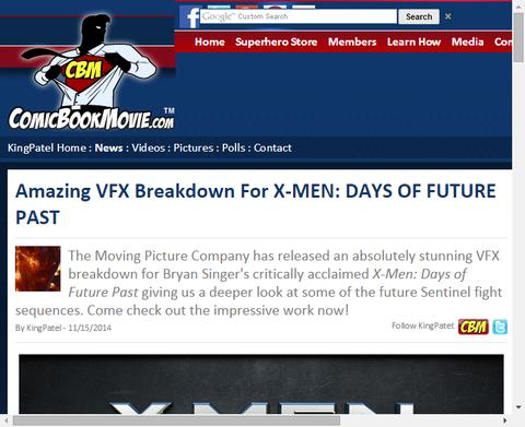 映画「X-MEN:デイズ・オブ・フューチャー・パスト」の素晴らしきVFXがわかる映像が公開!