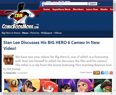 映画「ビッグ・ヒーロー・6」にカメオ出演するあの人の映像とインタビューが公開!