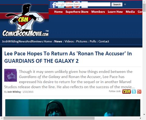 リー・ペイスは映画「ガーディアンズ・オブ・ザ・ギャラクシー」の続編でロナンに帰ってくることを望んでいる!